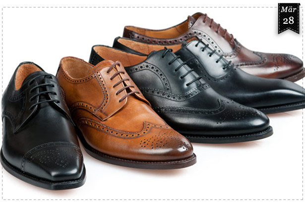 Verschiendene Brogue-Varianten von SHOEPASSION.com