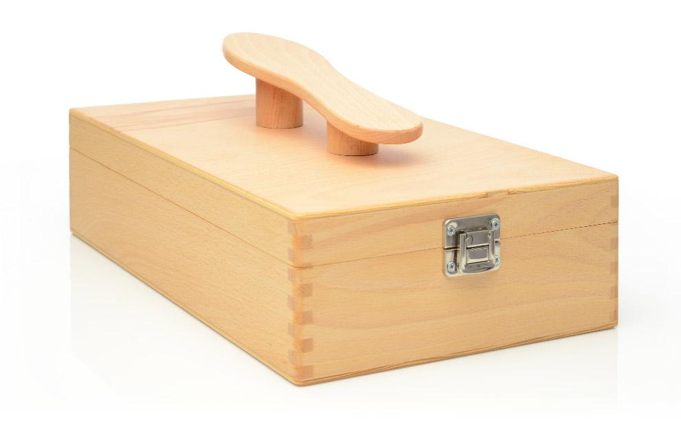 schuhputzkiste aus holz schuhputzbox schuhputzkasten schuhpflege box schuhbox ebay. Black Bedroom Furniture Sets. Home Design Ideas